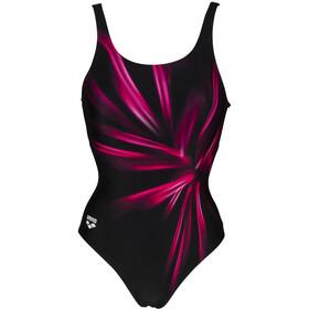 arena Blossom U Back One Piece Swimsuit Women black/freak rose multi